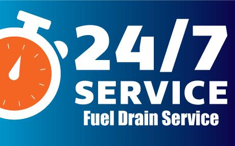 24/7 Fuel Drain Service